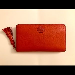 Tory Burch Orange Continental Wallet